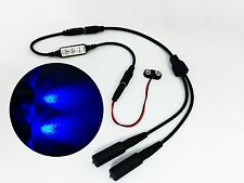Micro Effects Light 2X blue LED & control flash blink strobe 9V prop MELKITB-4B