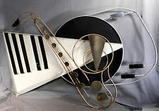 Vintage Modern 20th Century Curtis Jere BIG Wall Sculpture Saxophone Piano MUSIC
