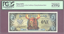 2007 $1 EF Disney Dollars PIRATES: FLYING DUTCHMAN PCGS 67 PPQ SUPERB GEM NEW