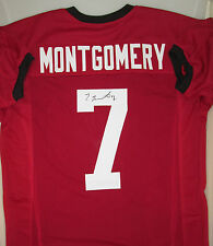 Stanford Cardinals Receiver TY MONTGOMERY Signed Home Custom Jersey AUTO