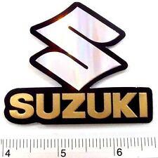 """Suzuki Motor Car Sticker Reflect Light Decal Emblems Gold 2.25x2.75"""""""