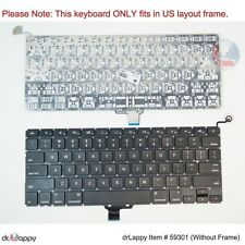 Genuine Apple US Black Keyboard for MacBookPro8,1 2011 13""