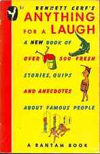 ANYTHING FOR A LAUGH, Bennett Cerf - OVER 500 JOKES, PUNS, & POEMS, OFTEN NON-PC