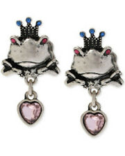 BETSEY JOHNSON REPTILES FROG KING EARRINGS NWT