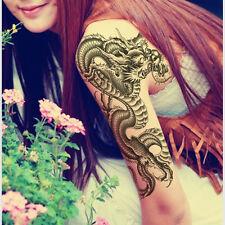 Etanche Dragon Tatouage Tattoo Temporaire Bras Art Autocollant Amovible Sticker
