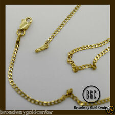 14k Solid Yellow Gold Cuban Link Chain 18 Inches ON SALE!