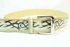 """UNISEX BOLD TRIBAL """"MIKE TYSON"""" FACE TATTOO BELT BRAND NEW UNIQUE (BL1)"""