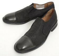 DONALD J PLINER Zarro Black Linen Leather Elastic Loafers Shoes 8 M NIB $225!