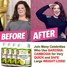 4 PACK GARCINIA CAMBOGIA PURE 1000 mg NATURAL WEIGHT LOSS 70% HCA DIET BURN FAT#