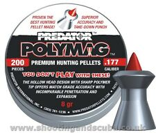 JSB Predator Polymag Cal.177 (4.50mm)- 8gr - 200 Air Gun Rifle Pistol Pellets