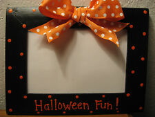 HAPPY HALLOWEEN FUN- holiday kids family pumpkin photo picture frame