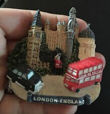 London England Double Decker Bus Taxi 3D Magnet, Souvenir, Travel, Refrigerator