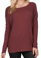 NEW VOLCOM LIVED IN GO CREW L/S PULLOVER TOP SHIRT Crimson SMALL MEDIUM code L84