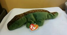 Ty Beanie Baby ALLY the Alligator DOB 3-14-94 w/ 1993 Tag Deutschland PVC *New