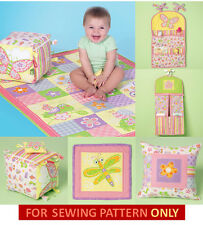 SEWING PATTERN! MAKE BABY NURSERY ACCESSORIES! BLANKET~BLOCK~ORGANIZERS~PILLOWs!