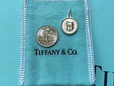 NWOT Tiffany & Co Authentic Sterling Silver Round TCO Box Tag Charm