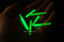 "1.5"" inch Green Mini Glow Sticks- 50 pack"