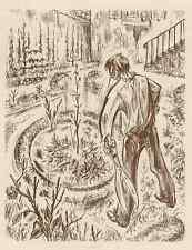 RADIKALES CLEARING von NEBENSÄCHLICHKEIT - Paul LEMAGNY - OriginalRadierung 1952
