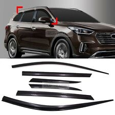 Smoke Window Sun Vent Visor Rain Guards 6P D075 For HYUNDAI 2016-17 Santa FE XL