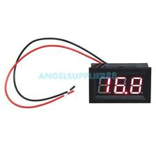 A#S0 0.56inch LCD DC 3.2-30V Red LED Panel Meter Digital Voltmeter with Two-wire