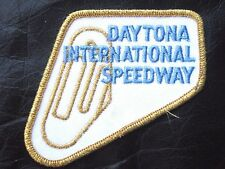 "DAYTONA EMBROIDERED PATCH GOLD INTERNATIONAL SPEEDWAY RACING NASCAR 4"" x 3 1/2"""