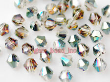 Bulk 100pcs Hot Colorized Glass Crystal Faceted Bicone Beads 6mm Spacer Findings