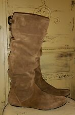 STEVE MADDEN P-TARZAN SOFT SUEDE SLOUCHY TALL RIDING BOOTS BROWN 9.5 M PIXIE