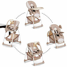 NEW HAUCK SIT N RELAX 2 IN 1 HIGHCHAIR BABY HIGH CHAIR / BOUNCER GIRAFFE