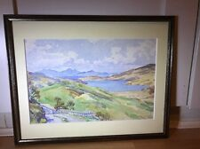 Beautiful Signed Vintage Watercolour Painting Of Landscape In Wood Frame