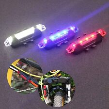 USB Rechargeable LED Bicycle Cycling Front Rear Tail Safety Light Lamp Set Black