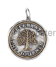 WAXING POETIC CELEBRATE THE JOURNEY MEDALLION CHARM PENDANT Sterling Silver