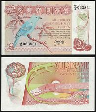 Suriname 2 1/2 GULDEN 1985 P 119 UNC  Series Z