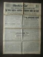 Giornali Seconda Guerra Mondiale Creta Candia Malta Resto del Carlino 1941