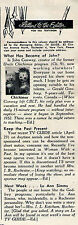 1954 Tv Article ~ UNCLE CHICHIMUS/JOHN CONWAY/NIECE HOLLYHOCK/CBC Kids Show