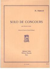 Henri Rabaud: solo De concours Per Clarinetto e Pianoforte - Leduc