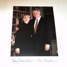 BILL AND HILLARY CLINTON /  8 X 10  COLOR  PHOTO  WITH  FACSIMILE  AUTOGRAPHS