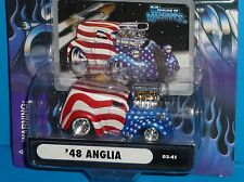 2003 MUSCLE MACHINES '48 Ford Anglia Panel Truck #03-41 911 Tribute Real Riders