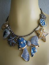 BETSEY JOHNSON HEAVENS TO BETSEY ORBITAL BOW GALAXY STATEMENT NECKLACE~RARE