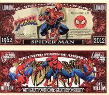 Spiderman Cartoon Series Million Dollar Novelty Money