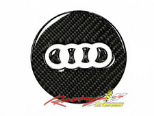 Audi 3D Carbon Fiber Steering Wheel Emblem Insert Decal for A3 A7 S7 Q7 Q3 TT R8