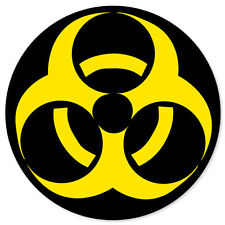 "BIOHAZARD Danger Sign warning bumper sticker 4"" x 4"""