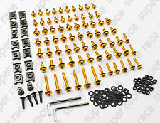 NEW GOLD MOTORCYCLE FAIRING BOLTS KIT FASTENER CLIPS SCREWS ALUMINIUM SPORTBIKE