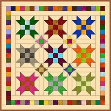 """FARMER'S DAUGHTER - 47"""" - Pre-cut Quilt Kit by Quilt-Addicts Lap size"""