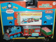 NEW THOMAS & FRIENDS TAKE ALONG HOLIDAY CHRISTMAS PACK DIE CAST TRAIN AND CARS