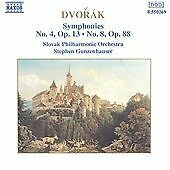 Dvorak - Symphonies 4 and 8, , Good Import