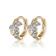 18 k Gold Plated Jewellery Small Baby Girls Hoops Gift First Earrings E989