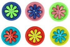 JESSE JAMES ~ DRESS IT UP BUTTONS - RETRO FLOWER  SEW FUN COLLECTION~ SALE!