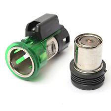 Green 12V 10A Car Cigarette Lighter Power Socket Port Plug With Light For Fiat