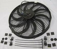 "16"" Inch Extreme Duty High CFM S-Blade Electric Radiator Cooling Fan + Mount Kit"