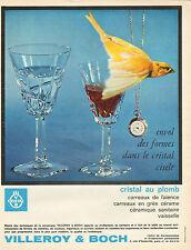 Publicité 1964  VILLEROY & BOCH cristal ciselé au plomb carreaux céramique ...